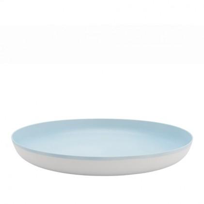 s.b. 17 diep bord lichtblauw wit