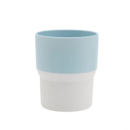 s.b. 44 beker lichtblauw wit