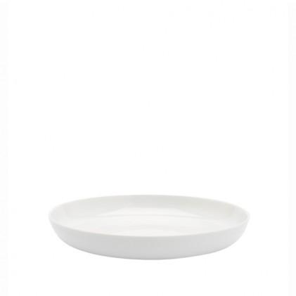 s.b. 14 diep bord wit geglazuurd