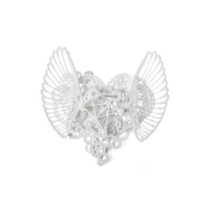 Ketting Clockwork Love Wings White small