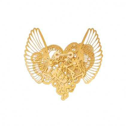 Ketting Clockwork Love Wings Gold small