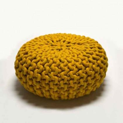Urchin Pouf geel