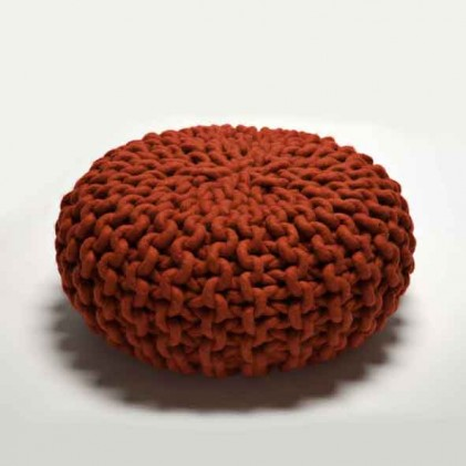 Urchin Pouf rood